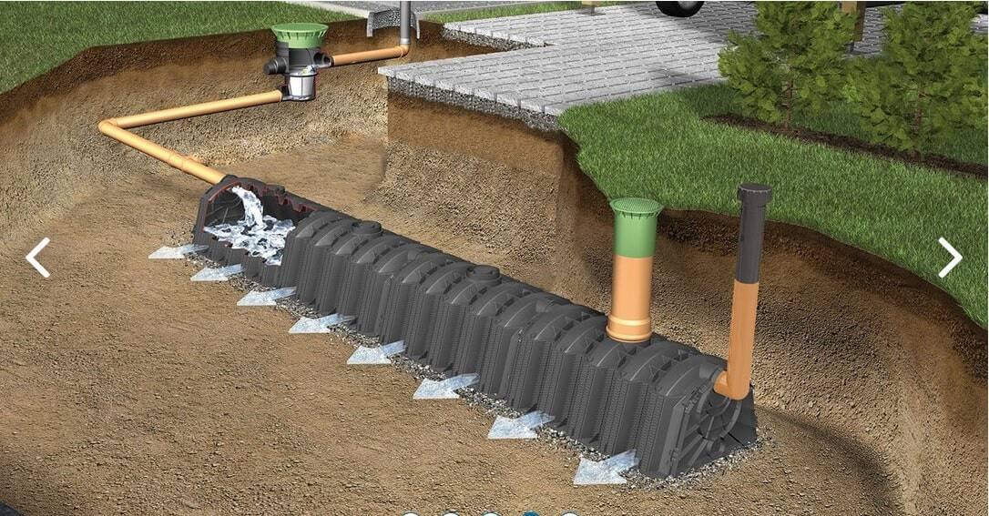 An infiltration tunnel in use